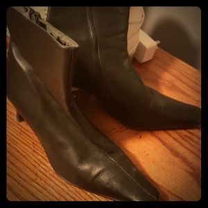 2 pair of black boots